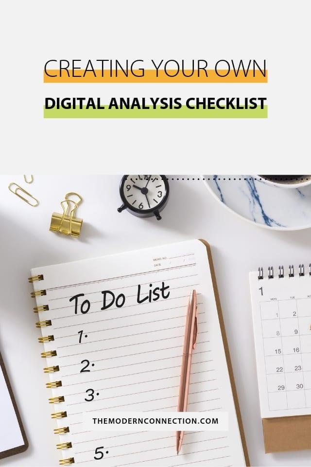 Creating Your Own Digital Analysis Checklist