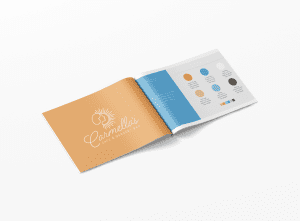 mockup of brand style guide